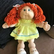 Cabbage Patch, Red Hair, Blue Eyes, Yellow Dress, 1978-84, Original Clothes.
