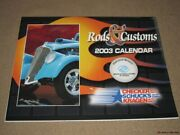Rods And Customs Year 2003 Calendar Color Illustrated Free Us Shipping