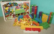 Vintage 1991 Paul Bunyan Wood Builders Building Set B-165 With Box 161 Pieces