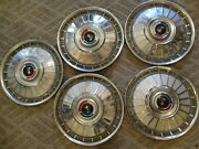 Gently Used 1962 Ford Fairlane 14 Wheelcover Set/five Clean Units Holander O4
