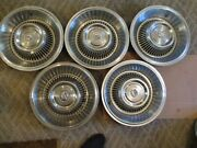 Gently Used 1963/64 Cadillac 15 Wheelcover Set/five Clean/hollander Cad 63-64