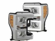 For 2017-2018 Ford F350 Super Duty Headlight Set Anzo 51283pg Headlight Assembly