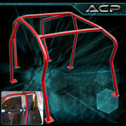 For 99-05 Vw Vag Euro Gti Golf Mk4 Mkiv 6 Point Roll Cage Racing Track Red
