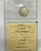 1942 Melbourne Threepence..key Date In Excellent High Grade Graded Acgs Ef40