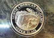 North American Canada Moose Nahc Big Game Super Slam Silver Plate Collector Coin