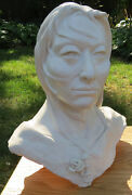 Original Hand Crafted American Indian Clay Sculpture Bust