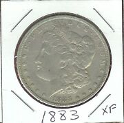 U.s.a Morgan Dollar 1883 Xf Libertyand Eagle Clasping Arrows And Olive Branch