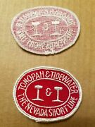 Nos Tonopah And Tidewater Railroad Patch - The Nevada Short Line - Tandt Rr