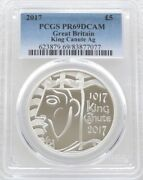 2017 Royal Mint King Canute Uk Andpound5 Five Pound Silver Proof Coin Pcgs Pr69 Dcam