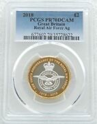 2018 Royal Mint Royal Air Force £2 Two Pound Silver Proof Coin Pcgs Pr70 Dcam
