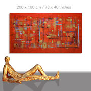 Abstract Paintings Modern Art Wall Hand Painted Canvas Decor Noblesse 78 X 40