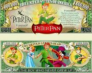 Peter Pan Novelty Dollar Bill Comes In A Soft Polly Sleeve