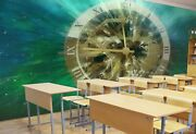 3d Timetable Gear A45 Business Wallpaper Wall Mural Self-adhesive Commerce Zoe