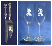 Nightmare Before Christmas Simply Meant To Be Wedding Knife  Server Glasses