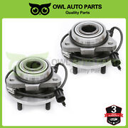 2pc Front Wheel Bearing And Hub For Chevy Blazer Gmc Jimmy 2wd 5lug W/abs 513200