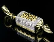0.3 Ct Round Sim Diamond Mens Candy Jolly Rancher Pendant 14k Yellow Gold Plated