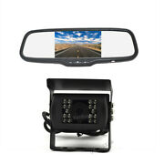Rear View Reverse Camera And Mirror Monitor For Rv Motorhome Tractor Trailer Truck