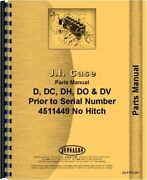 Case D Dc Dh Do Dv Tractor Parts Catalog Manual Without Eagle Hitch