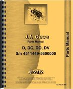 Case D Dc Do Dv Tractor Parts Manual With Out Eagle Hitch