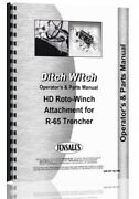 Ditch Witch R-65 Roto-witch Operators Manual Parts Catalog For R65 Trencher
