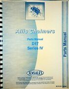 Allis Chalmers D17 Series Iv Tractor Parts Manual Catalog
