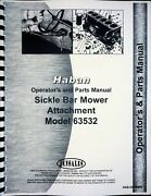 Haban 4and039 5and039 Sickle Bar Mower Attachment Owner Operators Manual Parts Catalog