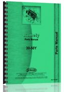 Rumely 30-50-y Oil Pull Tractor Parts Manual Catalog