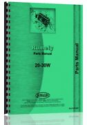Rumely 20-30 W Oil Pull Tractor Parts Manual Catalog