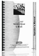 Huber L Lc Tractor Owners Operators Manual
