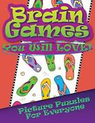 Brain Games You Will Love Picture Puzzles For Everyone By Llc, Speedy New,,