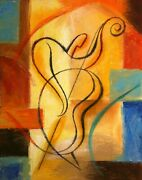 Canvas Art Print Abstract Stretched Ready To Hang Canvas Jazz Music Modern Art