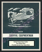 Aircrew Survival Equipmentman Rate Print 1 Personalized On Canvas Us Navy Vet