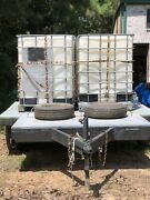 Trailer Water Tanks And Pump Used For Watering Land And Fire Control.