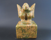 Old China,collectibles,hongshan Culture,jade,hand-carved,eagle,statue,seal 1913g