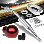 Manzo Short Throw Shifter+red Round Shift Knob For 83-87 Corolla Gts Ae86 Mt