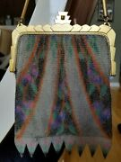 Antique Whiting And Davis Co. Mesh Art Deco Bag - 1930and039s
