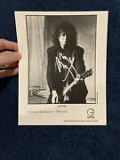 Jimmy Page Authentic Signed Photo Posing With Electric Guitar Psa Led Zeppelin