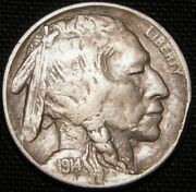 1914/3 Over Dateandnbsp Buffalo Nickel - Extra Fine To Au Condition