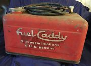 Rp2818 Vtg Fuel Caddy 5 Imp / 6 Us Gallons Outboard Motor Gas Tank W/ Hose