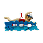 Personalized Girl Marathon Swimmer Sports Christmas Tree Ornament Holiday Gift