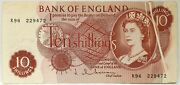 Great Britain 1962 ... 10 Shillings ... Collectorand039s Misprint . Obstruction Note