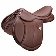 Bates Caprilli Close Contact Plus Saddle With Luxe Leather