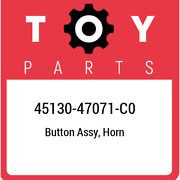 45130-47071-c0 Toyota Button Assy Horn 4513047071c0 New Genuine Oem Part