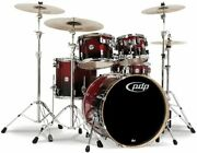 Pacific Drums Pdcb2215 Concept Series Birch 5pc Drum Shell Pack Cherry-blk Fade