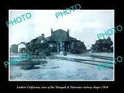 Old Large Historic Photo Of Ludlow California Tonopah And Tidewater Railway C1910