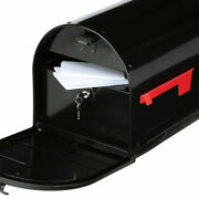 New Secure Large Locking Mailbox- Post Mount Black Or White Prevent Mail Theft