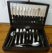 1847 Rogers Is Adoration Silverplate Service For 12 + Servers 87 Pcs In Case
