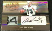Dan Marino 2006 Playoff Absolute Game-used Tag Logo Patch Auto True 1/1 Rare