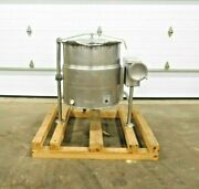 Mo-3286 Cleveland Kel-40t Stainless Jacketed Cooking Kettle. 40 Gallon. 304 Ss.
