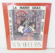 Vintage 1987 Signed George Luttrell Le Mardi Gras Birthplace Of Jazz Poster